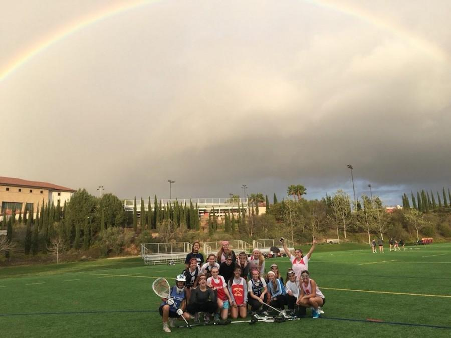 The lady dons varsity lacrosse team finds luck over the lower field.