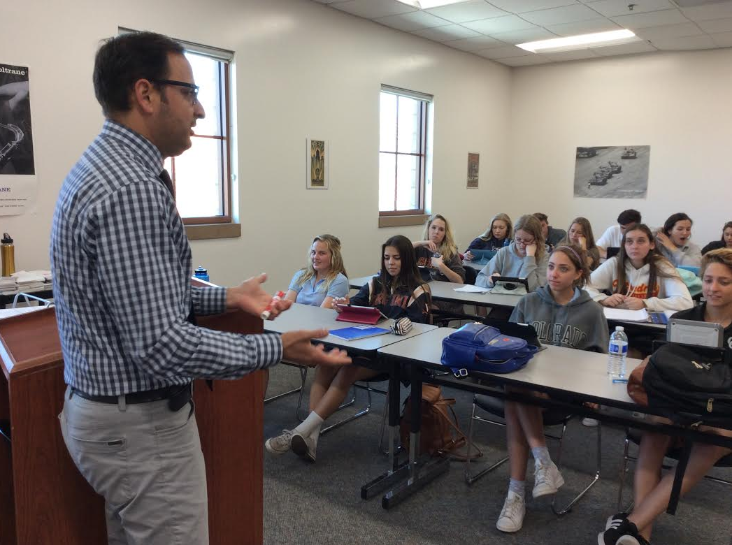 """Part of what makes Mr. Caro's AP Psychology class unique is his answering of """"Anonymous Questions,"""" student-submitted questions on various topics."""