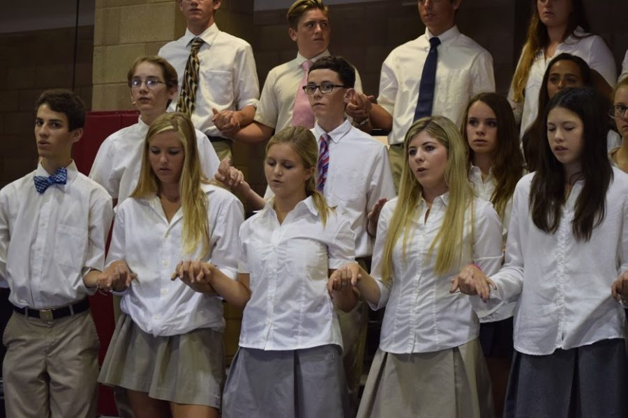 When feeling stress, CCHS students often find comfort in prayer and in other students' company.