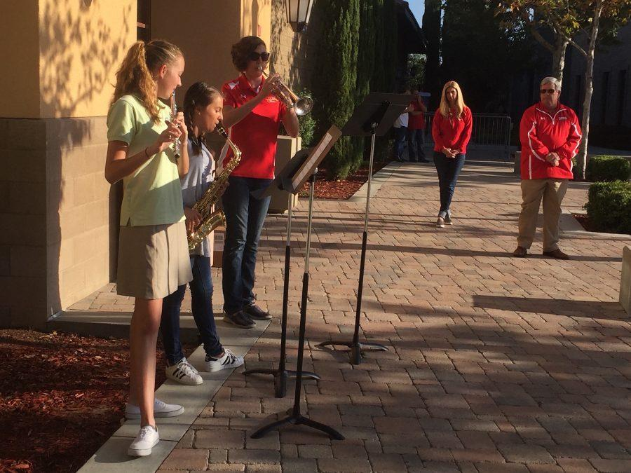 Members of the CCHS Band and Mrs. Swift perform a tribute of Amazing Grace.