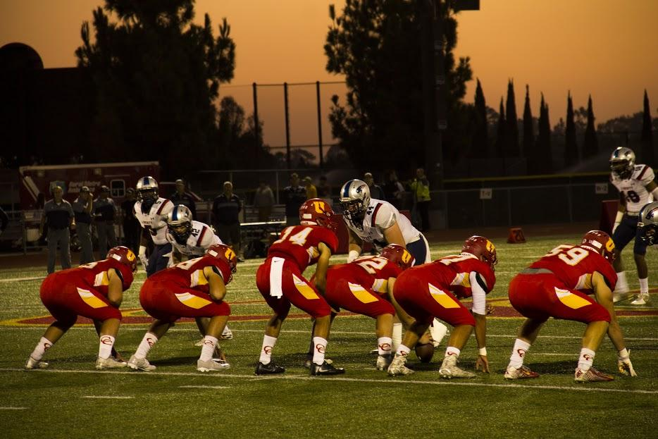 The glowing twilight set the scene for the CCHS varsity football team to square off against Liberty High School in the annual Homecoming Game.