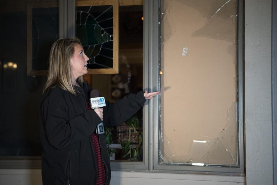 Reporter Maria Thompson informs the Omaha public of local break-ins.
