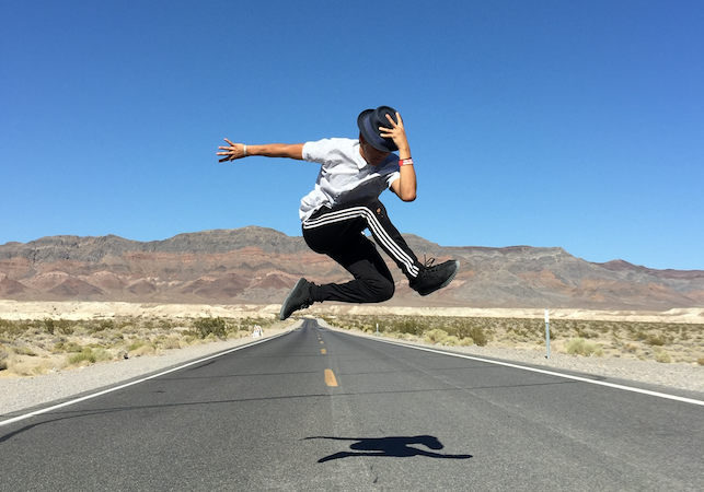 Quini jumps on the long road to his dance career stardom.