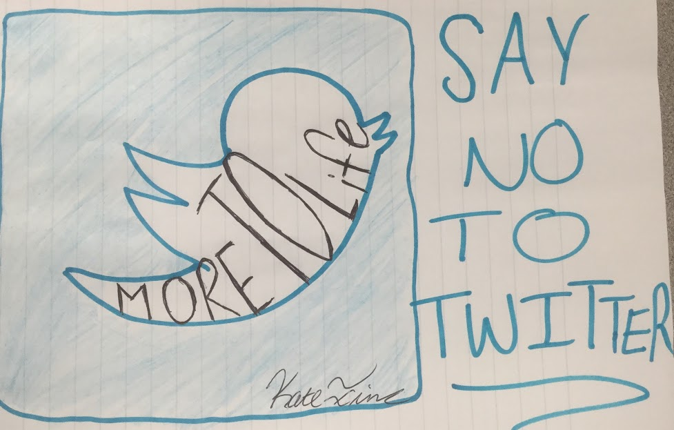 CCHS student Kate Ina '17 sketched her stance on social media, but more specifically regarding her recent break up with Twitter.