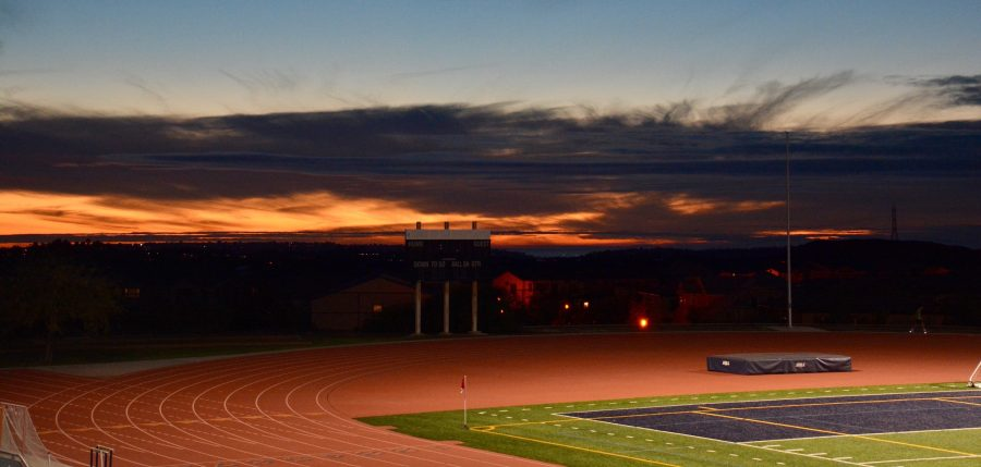 The sun kissed the sky goodbye over Del Norte High School before the CCHS freshman soccer team's match against DNHS.