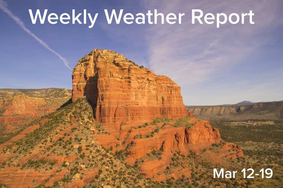 People in Sedona, Arizona enjoyed above average, summer-like temperatures as a high pressure system remains stationary over the southwest. Temperatures farther south in Phoenix, Arizona saw temperatures climb into the upper 90s, nearly reaching triple digits.