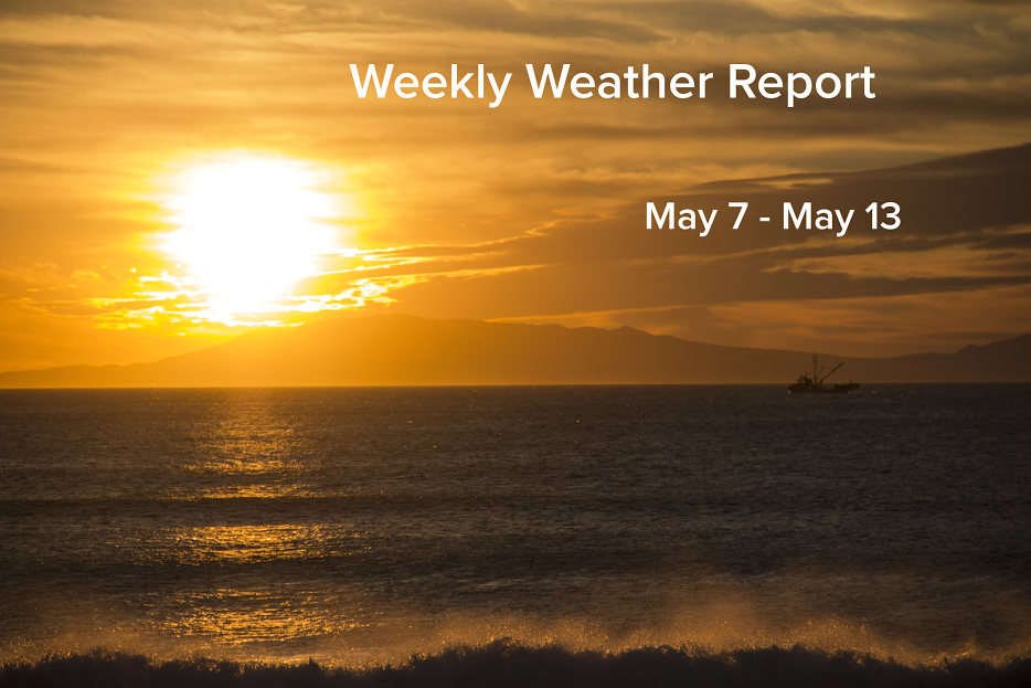 Weekly Weather Report May 9, 2017 - May 13, 2017