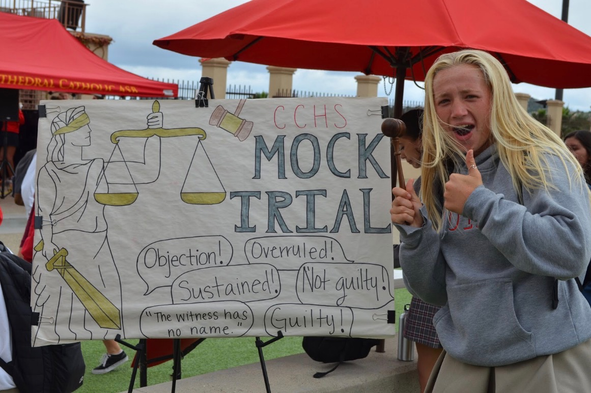 photo-by-Hannah-Human-Megan-Janikowski-20-gives-her-overruling-support-for-the-CCHS-Mock-Trial-team