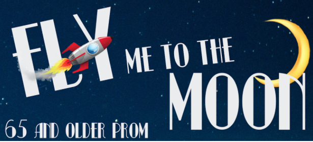 "Created by CCHS student Emmy Dunsford, the art on the flyers represents the prom's ""Fly Me to the Moon"" theme, named after Frank Sinatra's '50s hit."