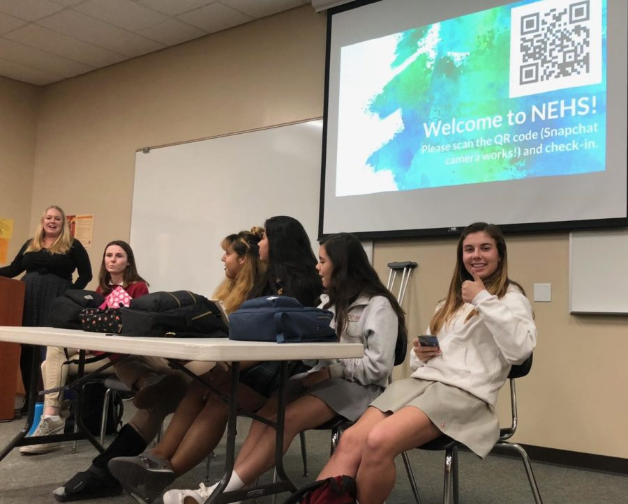 Ms. Brittney Cairns, faculty adviser of the CCHS National English Honors Society chapter, held its first meeting last Wednesday. NEHS officers Riley Hetherington '19, Eugenia Dominguez-Chaires '19, Melanie Velasquez '18, Madi Wayman '18, Sarah Armenta '18, and Sarah Wagner '18, invited the incoming members to prepare for the year ahead.