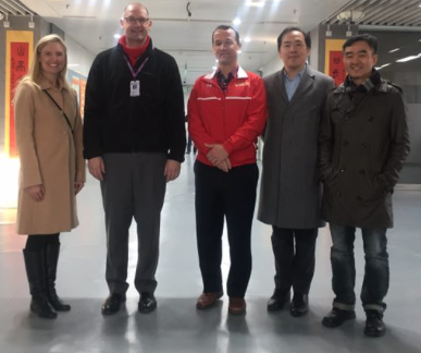 CCHS Admissions Director Elizabeth Tysor (far left) and Principal Kevin Calkins (third from left) join their Chinese hosts in a moment of camaraderie. CCHS is establishing closer ties with China in an effort to open educational opportunities and perhaps even a campus on mainland China.