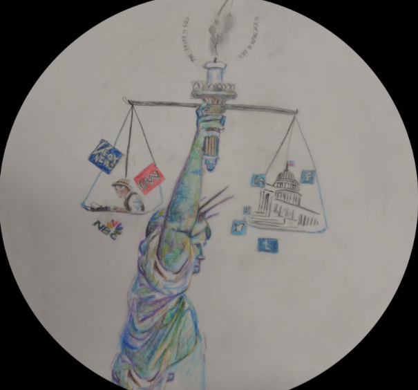 The+Statue+of+Liberty+flame%2C+which+symbolizes+justice+and+liberty%2C+seems+to+be+unlit+due+to+the+Fourth+Estate%E2%80%99s+journalistic+malpractice+and+other+parties%27+media+manipulation.%0A