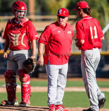 CCHS baseball head coach Gary Remiker (center) has the Dons firing on all cylinders heading into the postseason. The Dons recently captured another Western League title.
