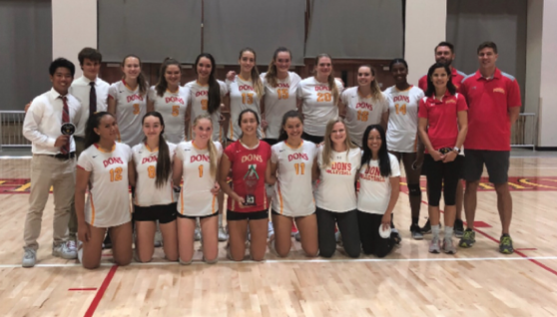 The CCHS varsity volleyball team celebrates a second place finish in the CIF Open Division Championship. The girls continue their campaign as they go into the state playoffs. The Dons take on Redondo Union High School, the 10th ranked team in the nation, on Nov. 7th on the road.