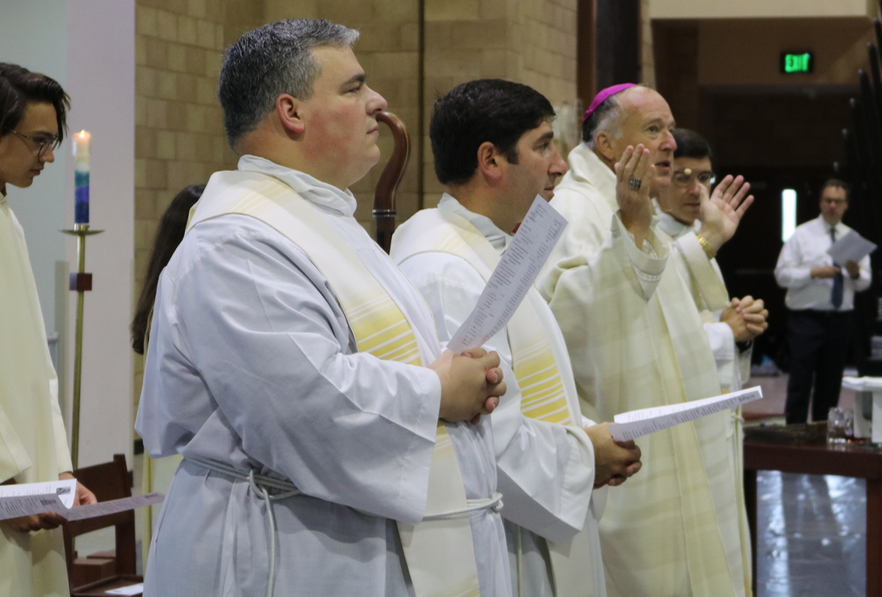 Bishop McElroy of San Diego was welcomed into the Cathedral Catholic High School community on Thursday morning.