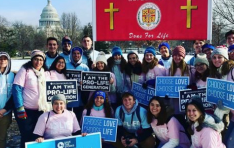 Dons for Life, Cathedral Catholic High School's pro life club, poses in front of the Capitol during their recent trip to Washington D.C. for the annual March for Life.