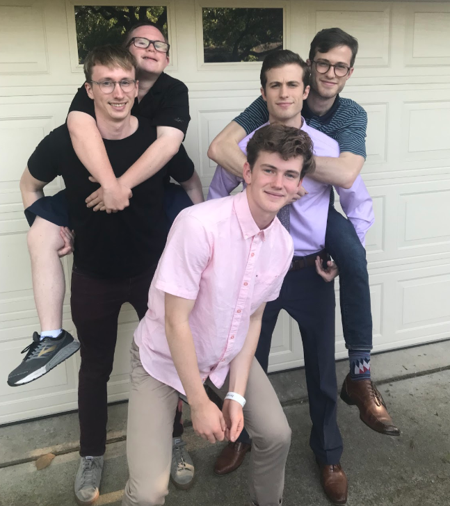 Cole Hume '20 celebrates the Easter in Dallas, Texas with his cousins.
