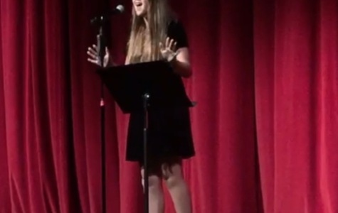 Maia Kristensen '22 sings a show tune from the hit musical Waitress Saturday, at the first CCHS Cabaret of the year. The theme titled Best Of Broadway, students from a variety of grades performed songs from numerous shows, including Mamma Mia, Hamilton, and The Little Mermaid.
