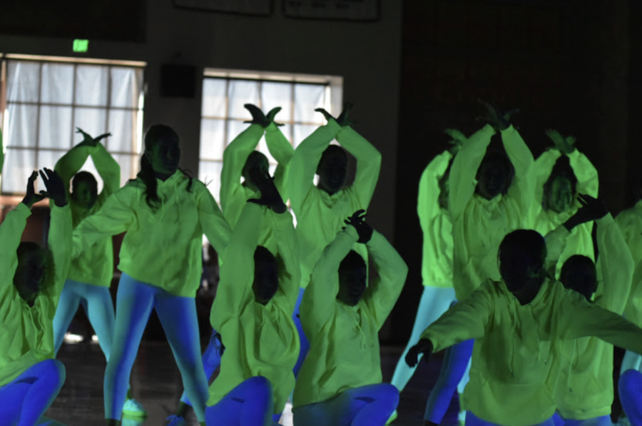The+CCHS+dance+team+performed+a+glow-in-the-dark+show+for+the+school%2C+a+performance+that+kicked+off+the+fall+rally+last+October.