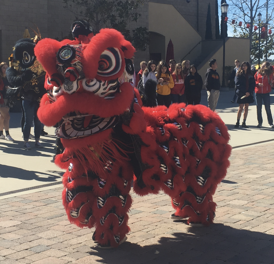 CCHS celebrated last year's Lunar New Year with a traditional Chinese dragon dance at lunch. A similar performance will occur tomorrow.