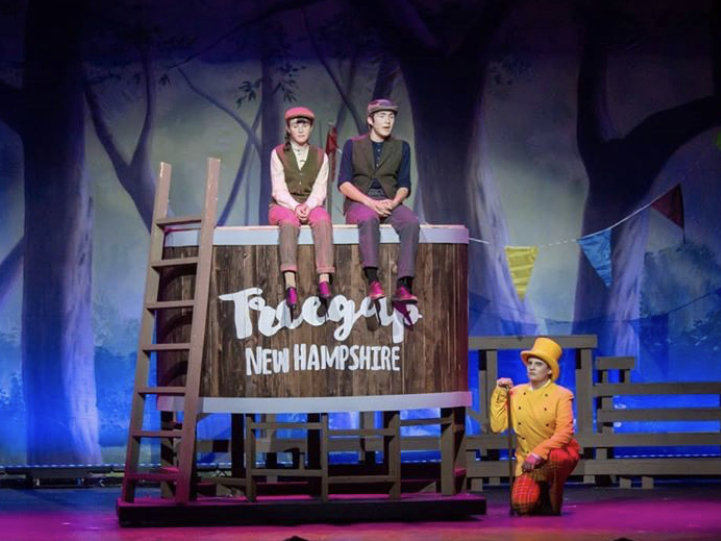 Hannah Tasto 23, Donny  Davalos 21, and Peyton Farmer 22 (left to right) perform the CCHS drama departments production of Tuck Everlasting, the winter musical, earlier this month.