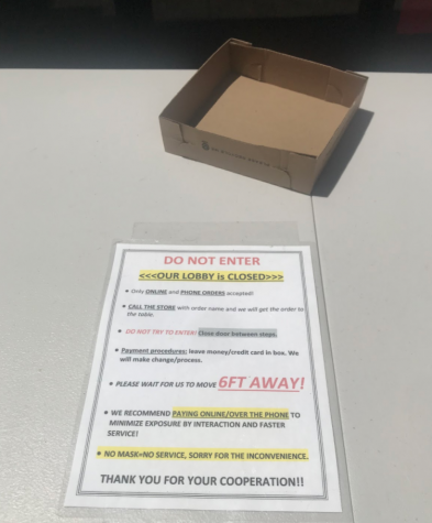 Numerous Stores and Businesses across San Diego and the United States are forced to adopt protocols to avoid spreading COVID-19. This Domino's restaurant in Escondido requires certain parameters to be met in order to be served.